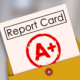 A Plus Student Report Card Grade Class Rating Review Evaluation