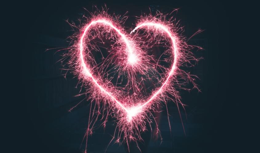 true love heart sparklers