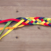 colored ribbons woven diversity