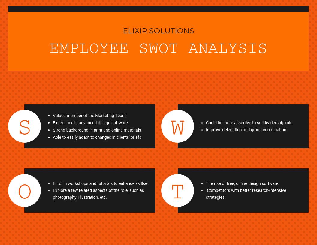 employee SWOT